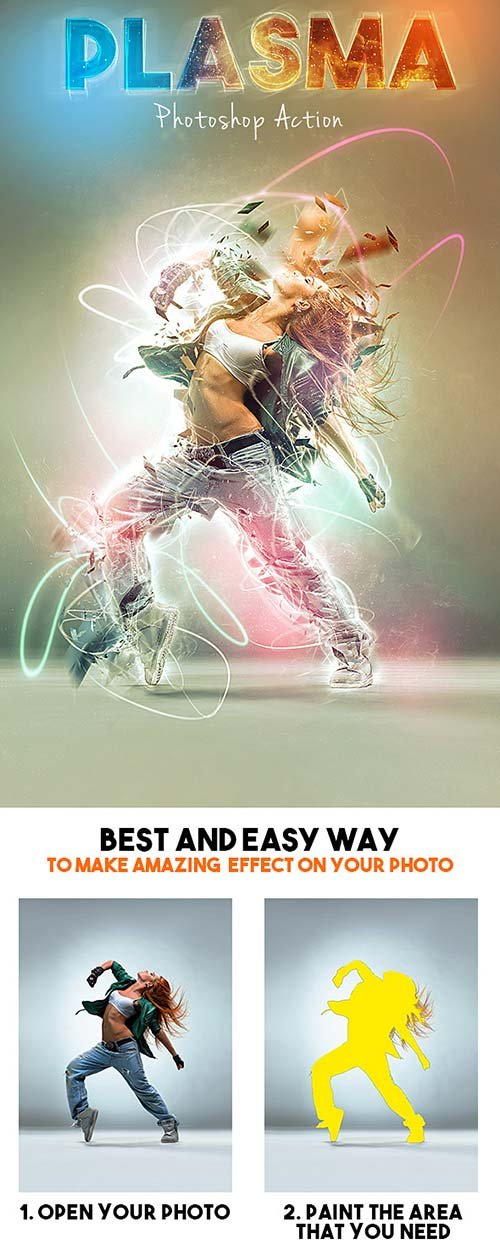 GraphicRiver Plasma Photoshop Action 12814548