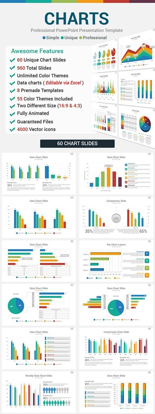 GraphicRiver Data Charts PowerPoint Presentation Template