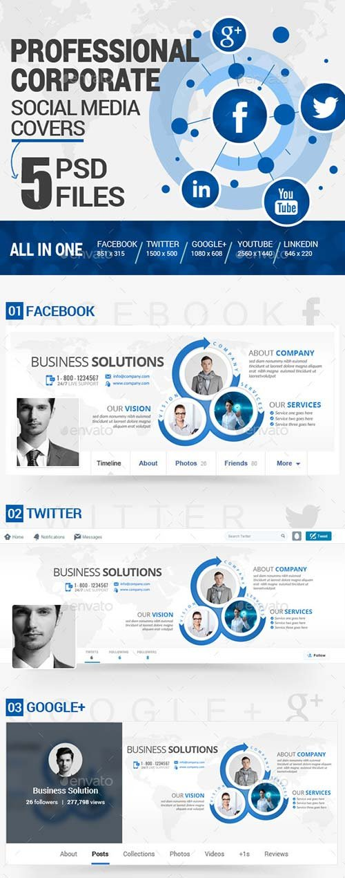 GraphicRiver Social Media Covers Kit