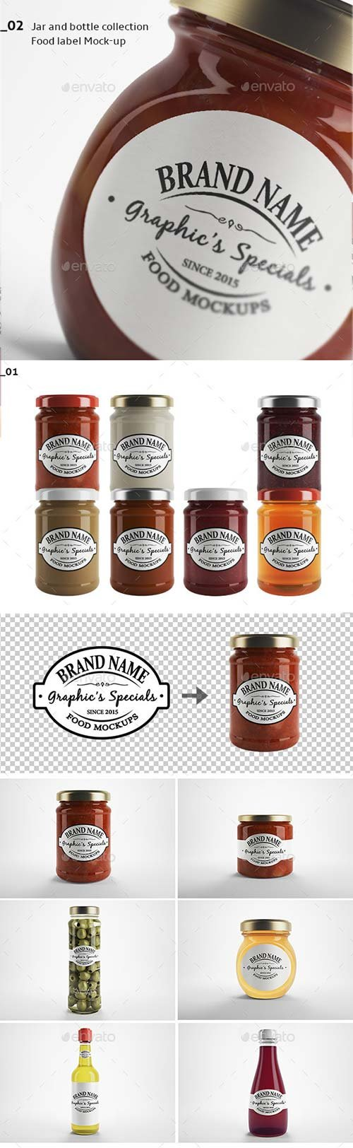 GraphicRiver Jar & Bottle - Label Logo Mockup