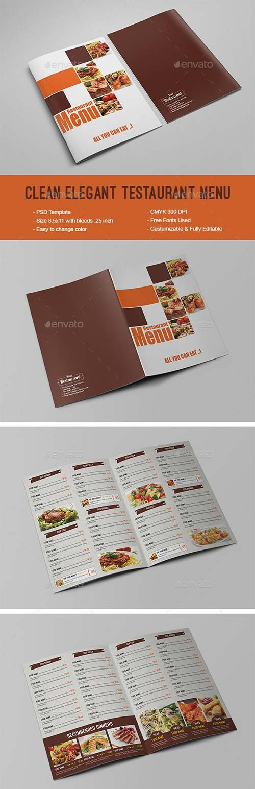 GraphicRiver Clean Elegant Restaurant Menu