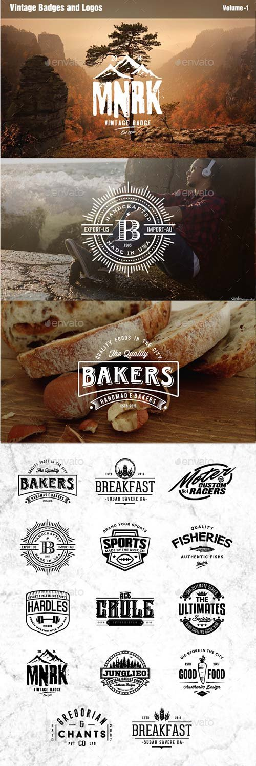 GraphicRiver Vintage Badges and Logos