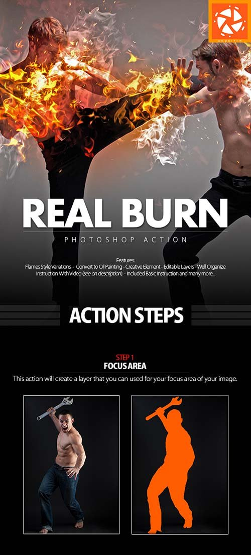 GraphicRiver Real Burn Photoshop Action