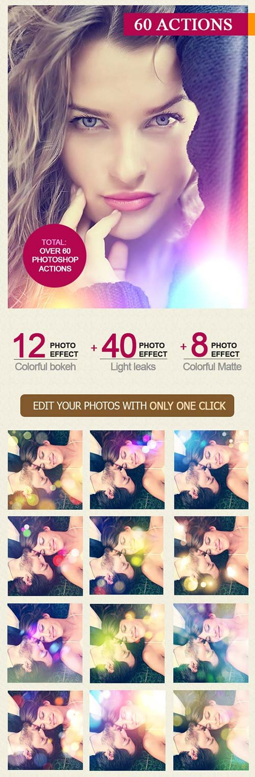 GraphicRiver 60 Photoshop Actions Bundle