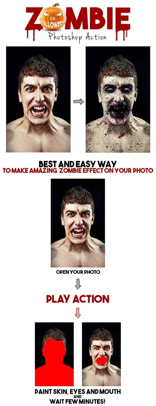 GraphicRiver Zombie Photoshop Action
