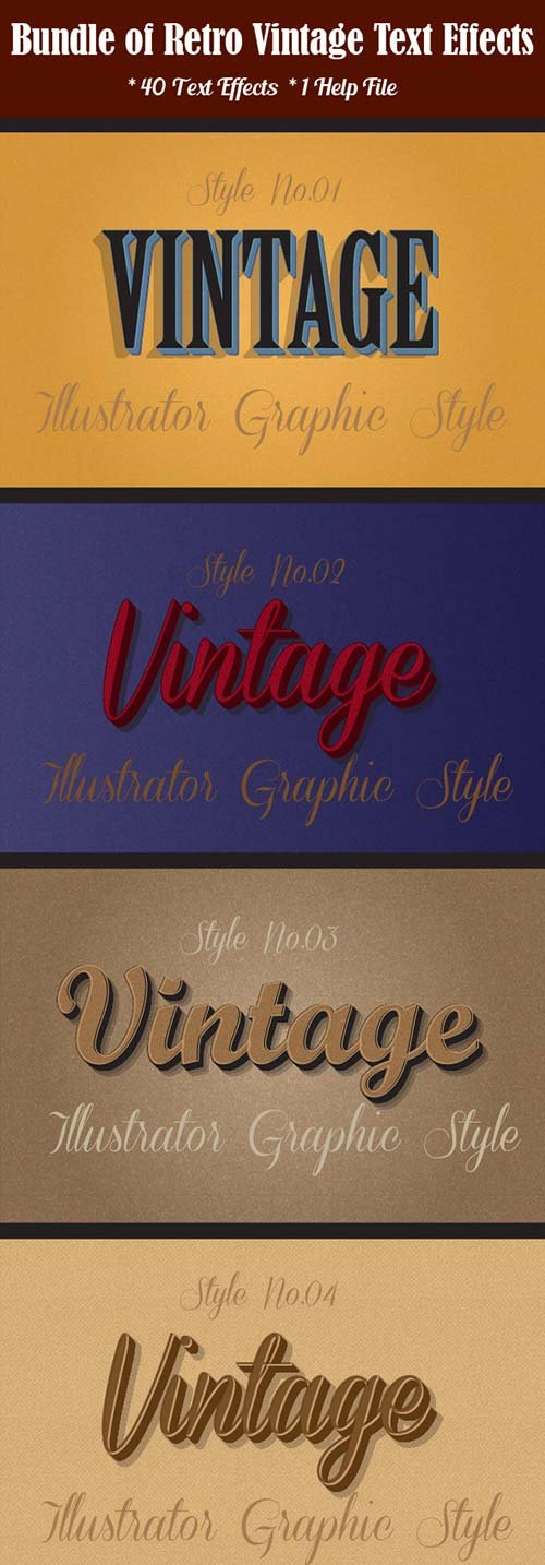 GraphicRiver Bundle of Retro Vintage Text Effects