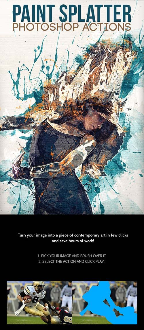GraphicRiver Paint Splatter - Photoshop Actions