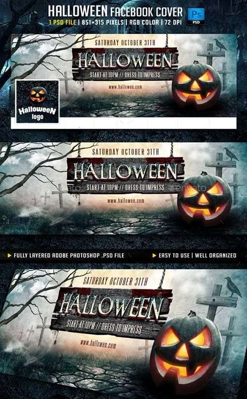 GraphicRiver Halloween Facebook Cover v3