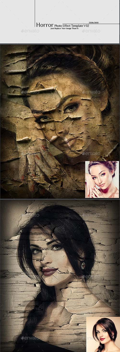 GraphicRiver Horror Photo Effect Template v02