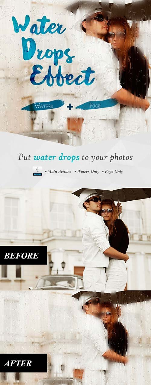 GraphicRiver Water Drops Effect Photoshop Actions