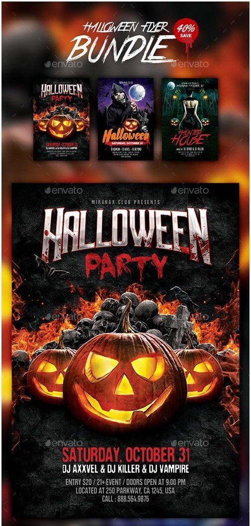 GraphicRiver Halloween Flyer Bundle 13272982