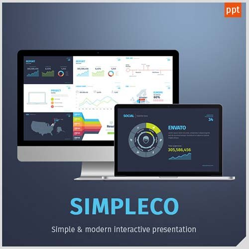 GraphicRiver SIMPLECO Simple Powerpoint Template