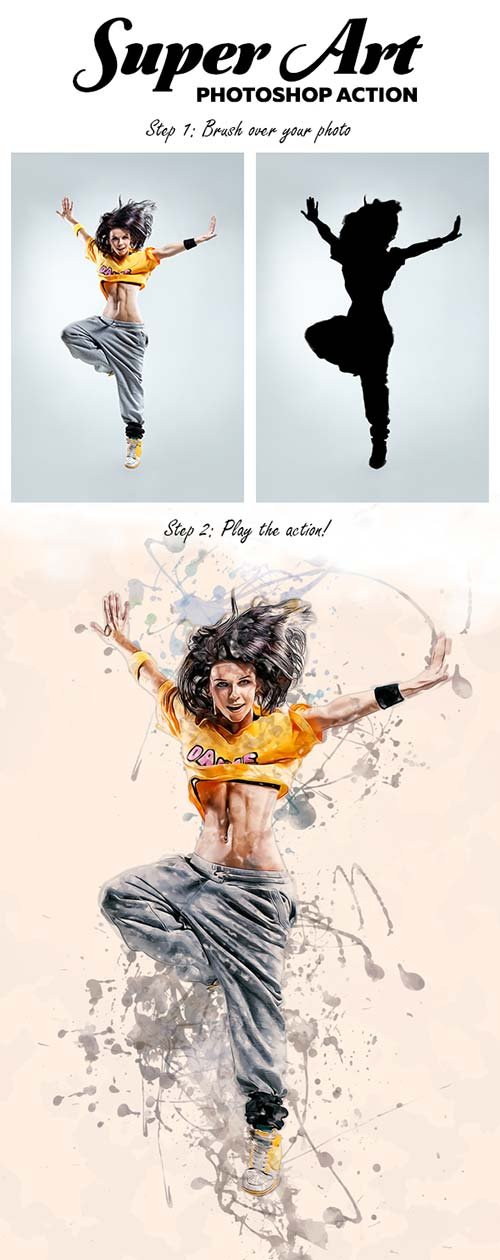 GraphicRiver Super Art - Photoshop Action