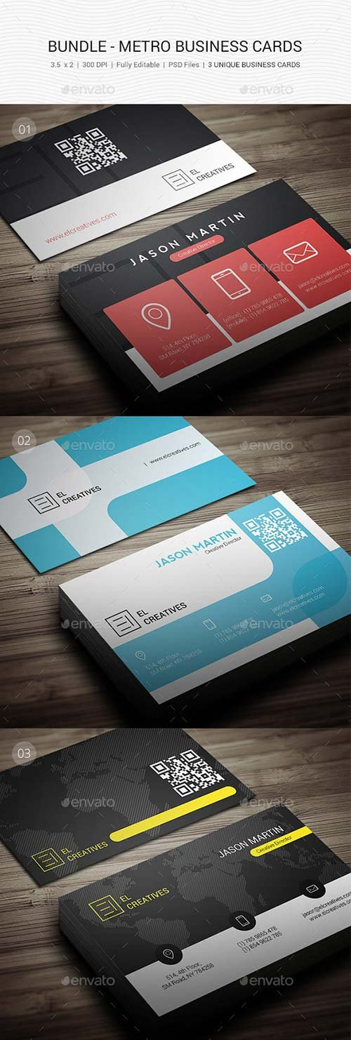GraphicRiver Bundle - Metro Business Cards - 115