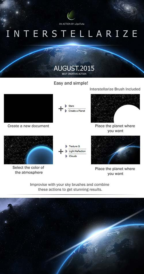 GraphicRiver Interstellarize - Cosmic Scene Action