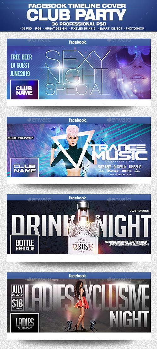 GraphicRiver Facebook Club Party Bundle 1