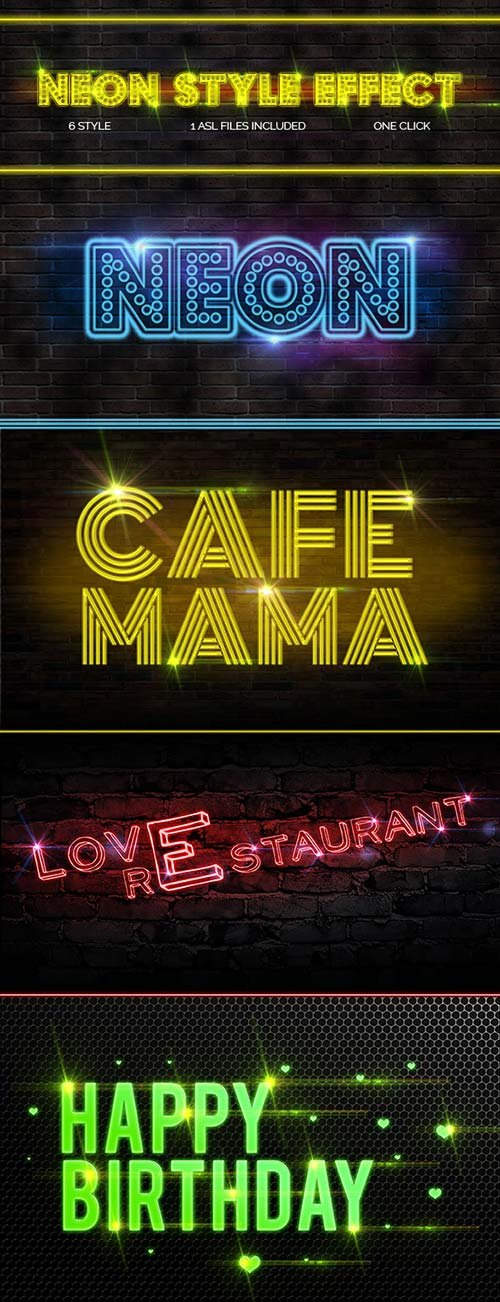 GraphicRiver Neon Style Text Effect