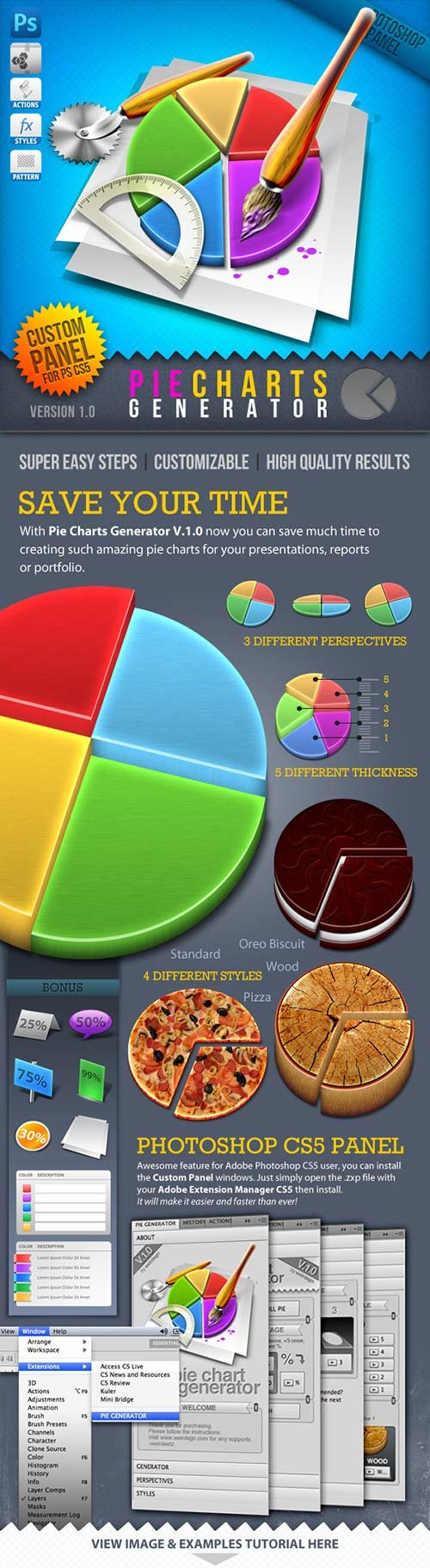 GraphicRiver Infographic Tool Series: 3D Pie Charts Generator