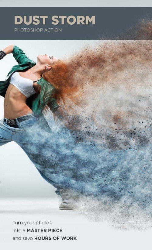 GraphicRiver Dust Storm Photoshop Action
