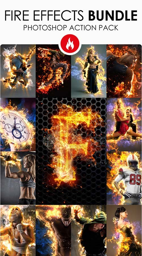 GraphicRiver Fire Effects Bundle - Photoshop Actions