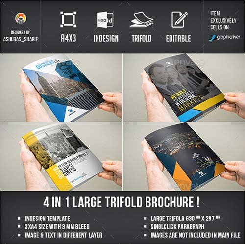 GraphicRiver Trifold Brochure Bundle - 3xA4 size