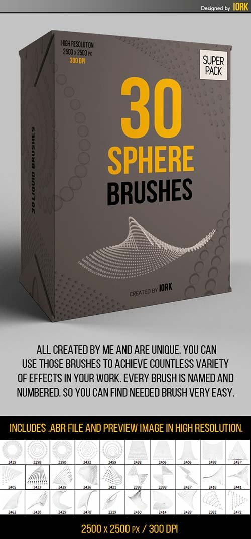 GraphicRiver 30 Abstract Sphere Brushes