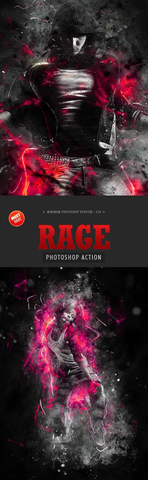 GraphicRiver Rage Photoshop Action
