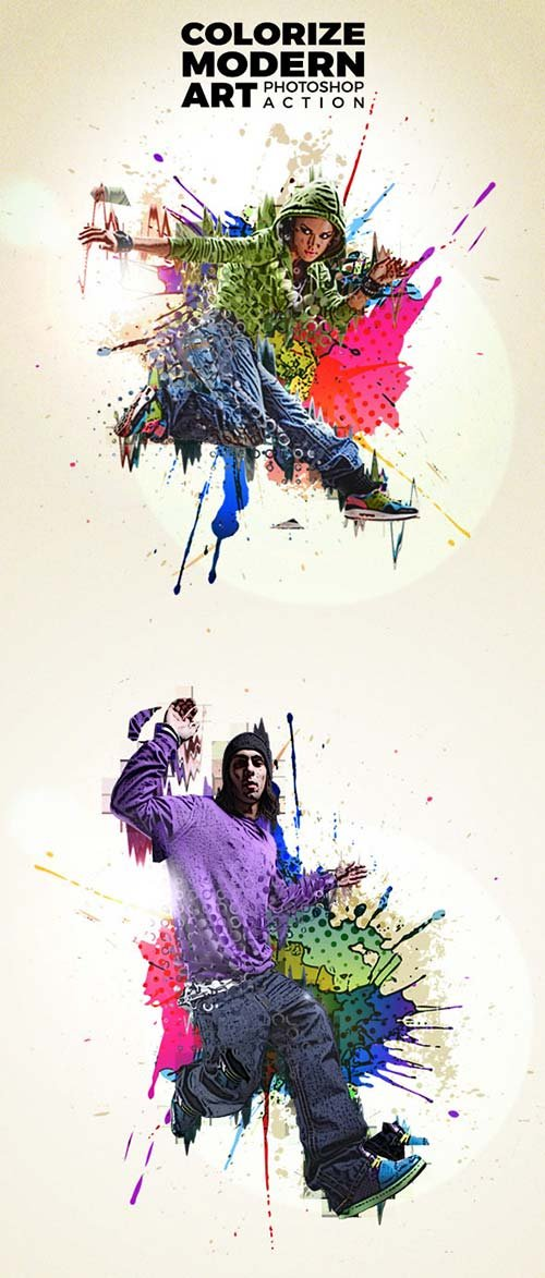 GraphicRiver Colorize Modern Art Photoshop Action