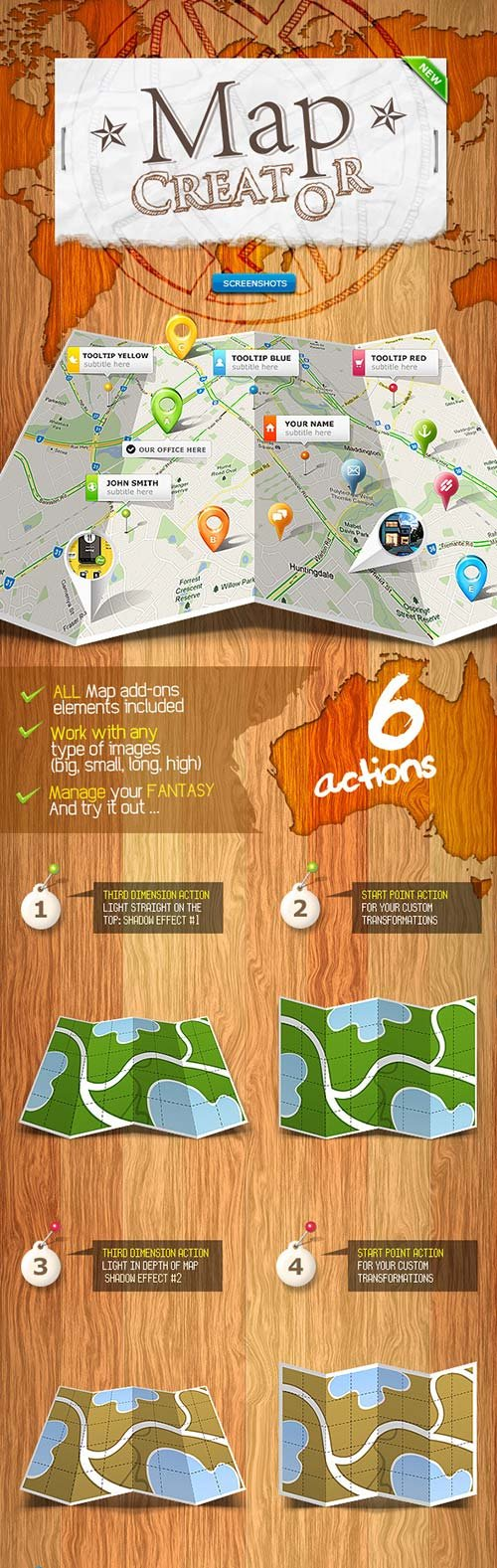 GraphicRiver Map Creator - Action