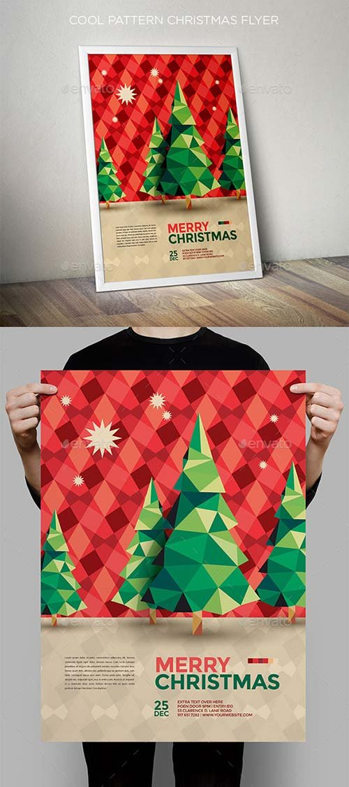 GraphicRiver Cool Pattern Christmas Flyer