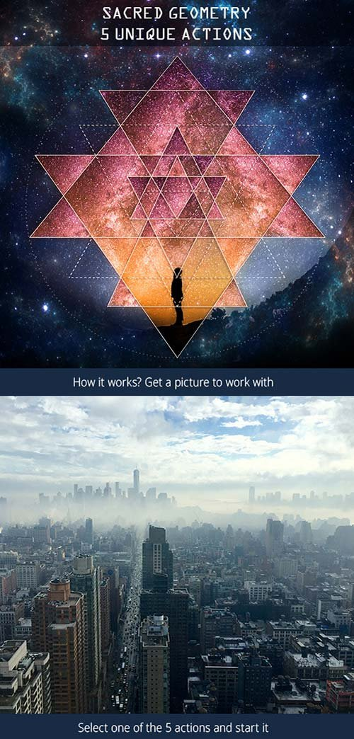 GraphicRiver Sacred Geometry Photoshop Actions