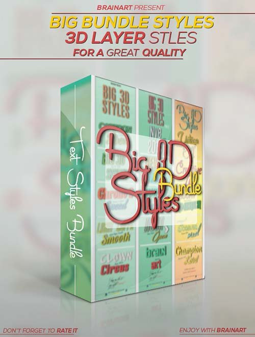 GraphicRiver 3D Layer Styles Bundle