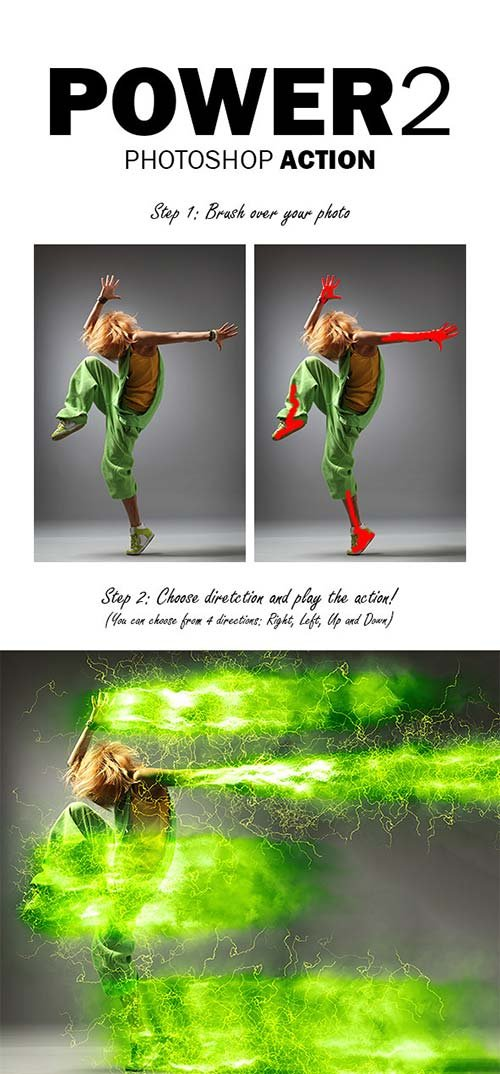 GraphicRiver Power 2 Photoshop Action