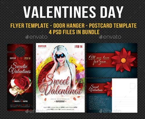 GraphicRiver Valentines Day Flyer - Hunger - Postcard Bundle
