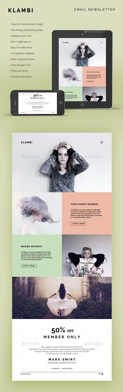 GraphicRiver Email Newsletter Klambi