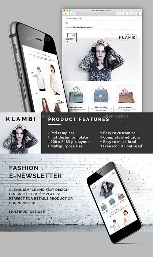 GraphicRiver Fashion E-Newsletter