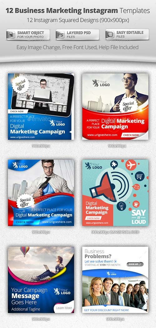 GraphicRiver Business Digital Marketing Instagram Templates