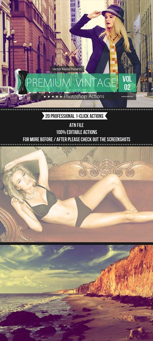 GraphicRiver Premium Vintage - Photoshop Actions [Vol.2]
