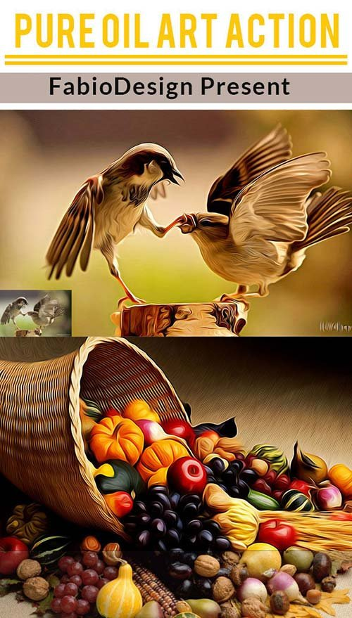 GraphicRiver Pure Oil Art Action