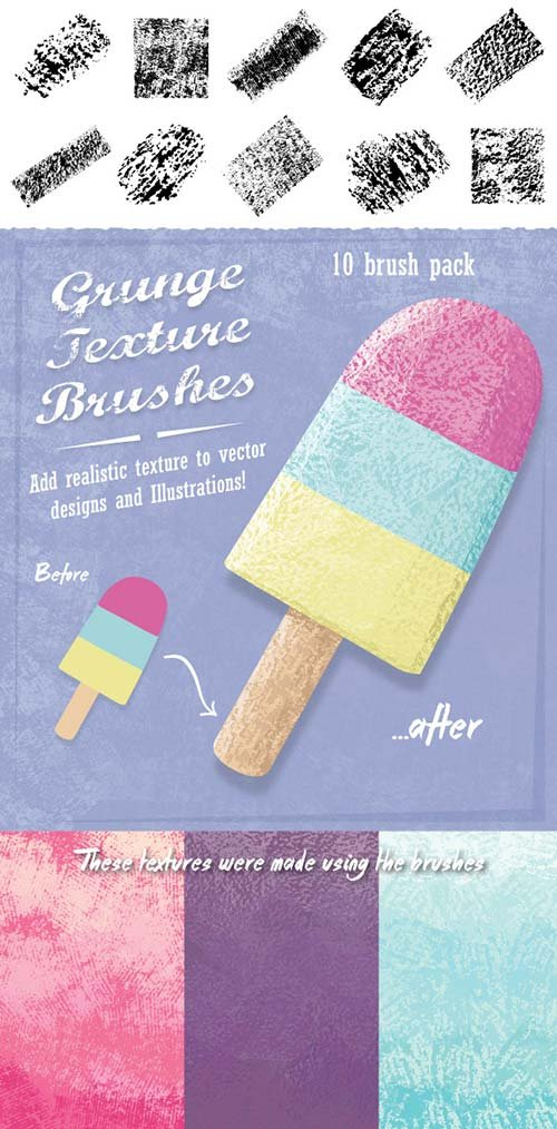 GraphicRiver Grunge Texture Brushes
