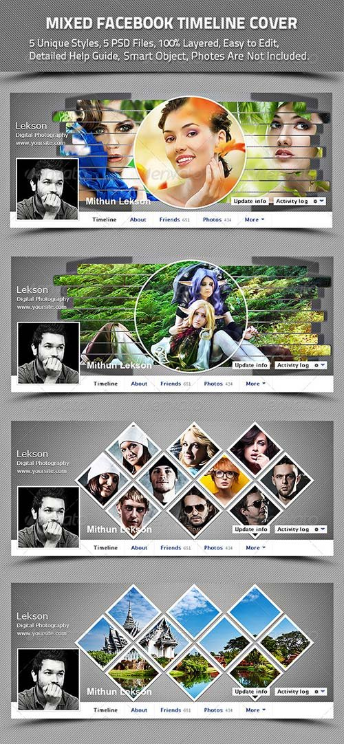 GraphicRiver Mixed Facebook Timeline Cover