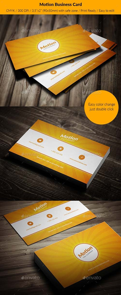 GraphicRiver Motion Business Card