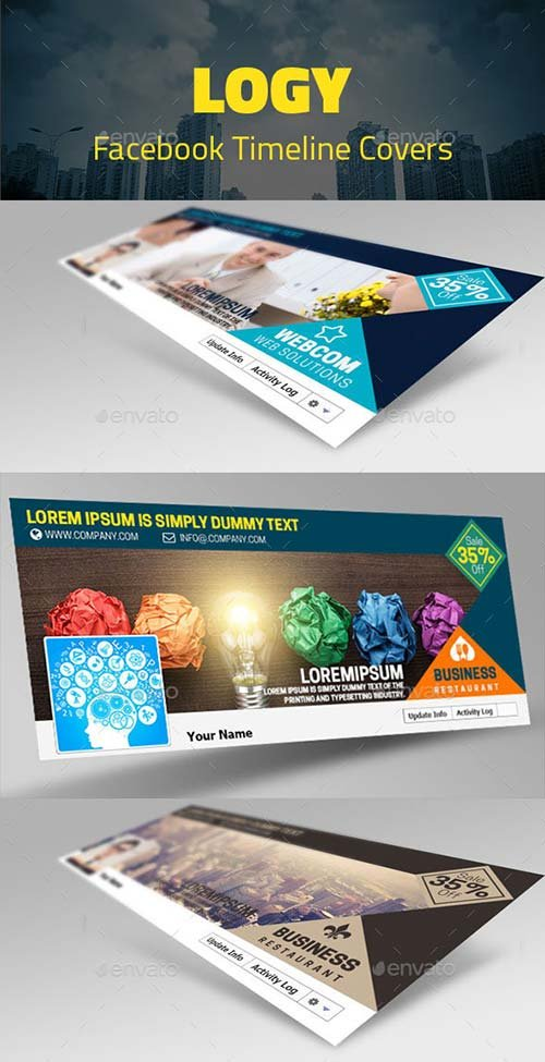 GraphicRiver Logy Facebook Timelines Covers
