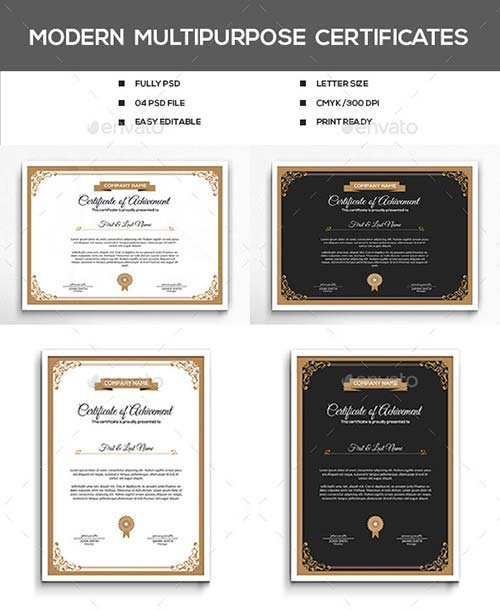 GraphicRiver Modern Multipurpose Certificates