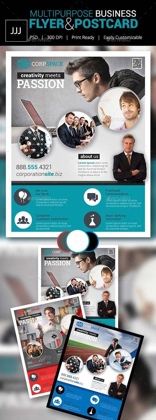 GraphicRiver Business Flyer 40 with Postcard