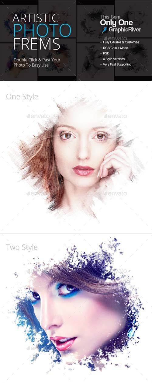 GraphicRiver Artistic Photo Frems