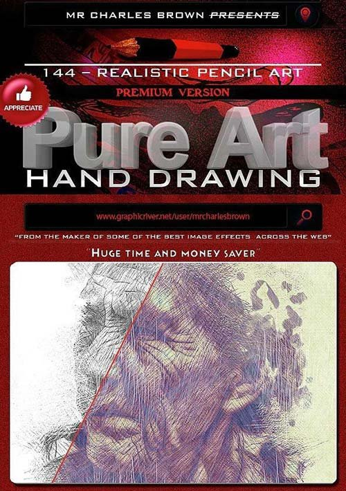 GraphicRiver Pure Art Hand Drawing 144 - Realistic Pencil Art
