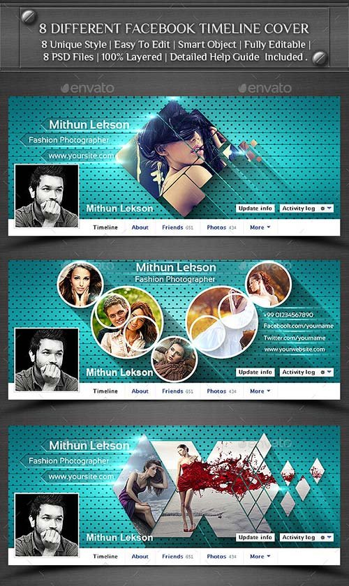 GraphicRiver 8 Different Facebook Timeline Cover