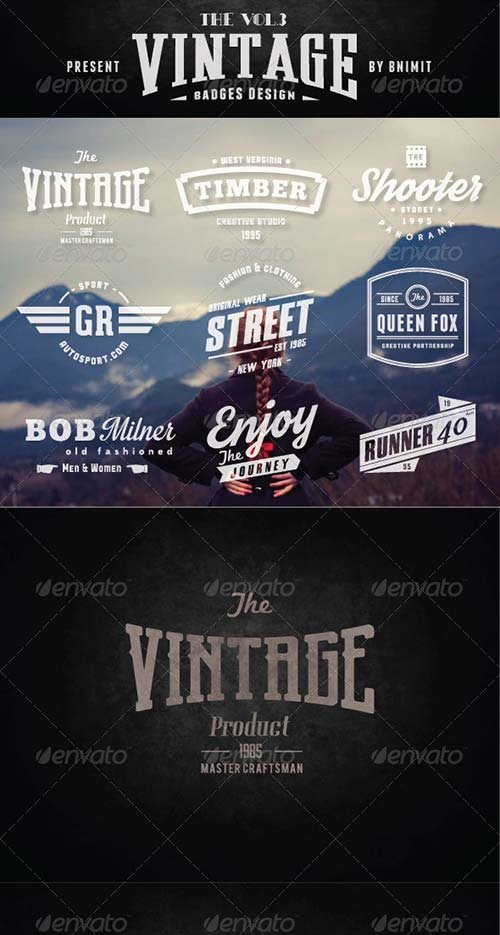 GraphicRiver Vintage Badges Vol.3