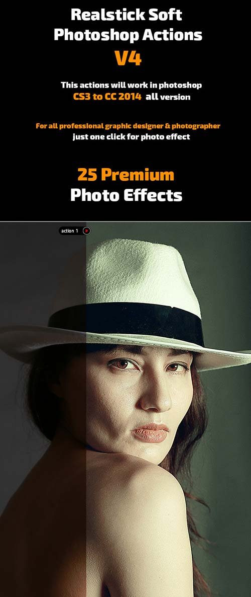 GraphicRiver Realstick Soft Photoshop Actions V